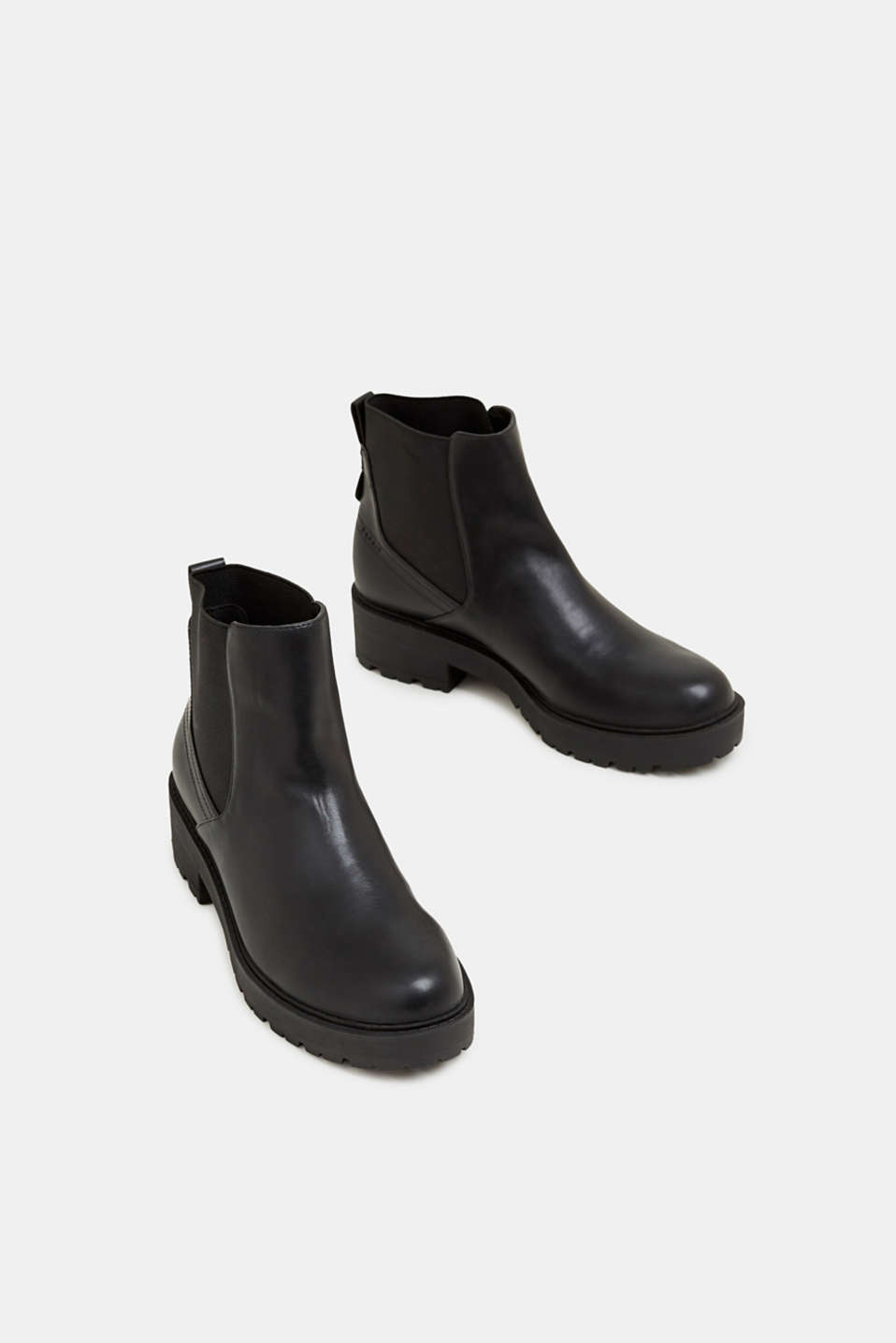 Chelsea boots with a tread sole, BLACK, detail image number 1