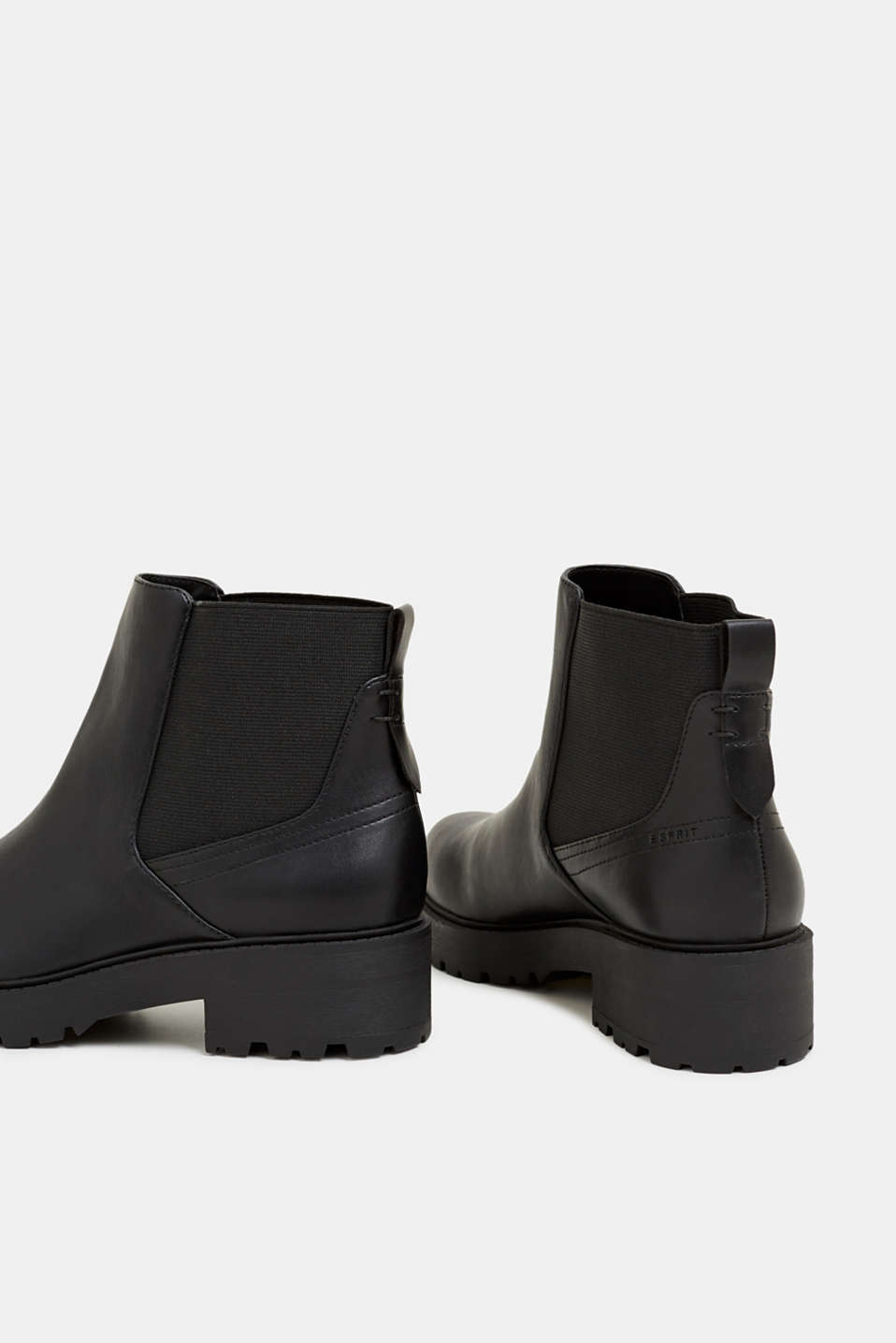 Chelsea boots with a tread sole, BLACK, detail image number 5