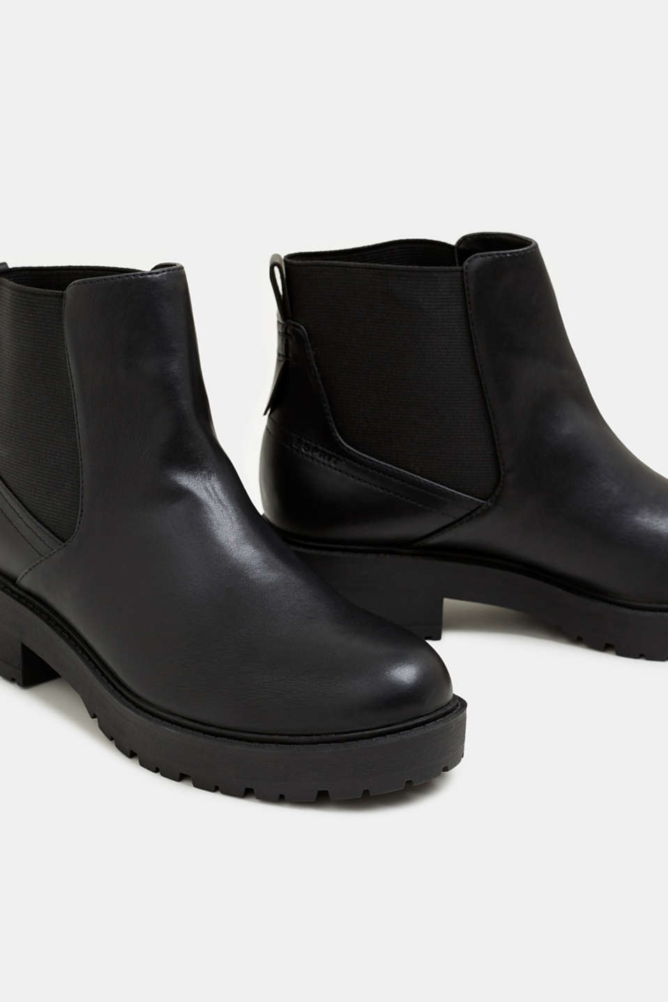 Chelsea boots with a tread sole, BLACK, detail image number 4