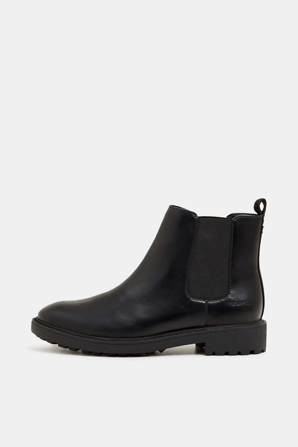 Esprit - Chelsea-Boots in Leder-Optik