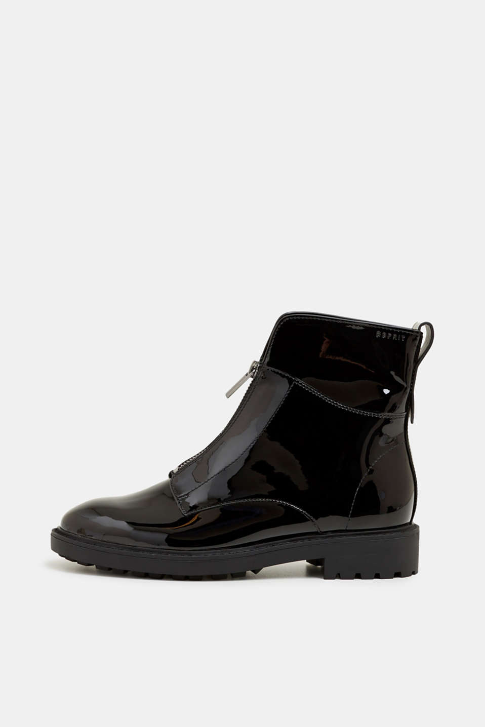 Esprit - Patent ankle boots with zips