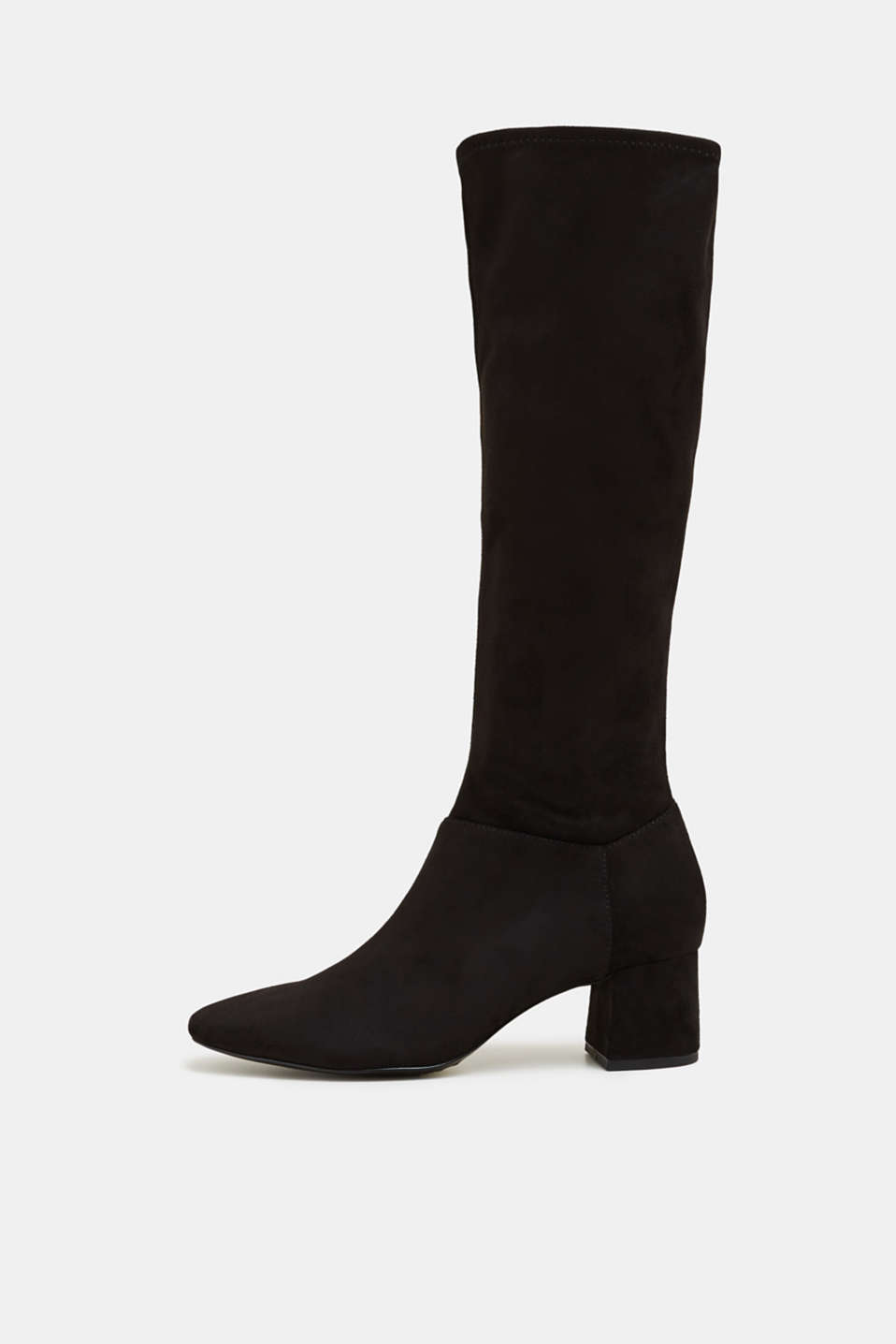 Esprit - Stretch-Boots in Velours-Optik