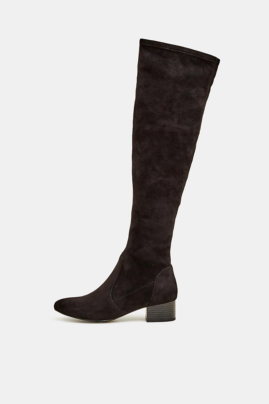 Overknee-Stiefel in Velours-Optik