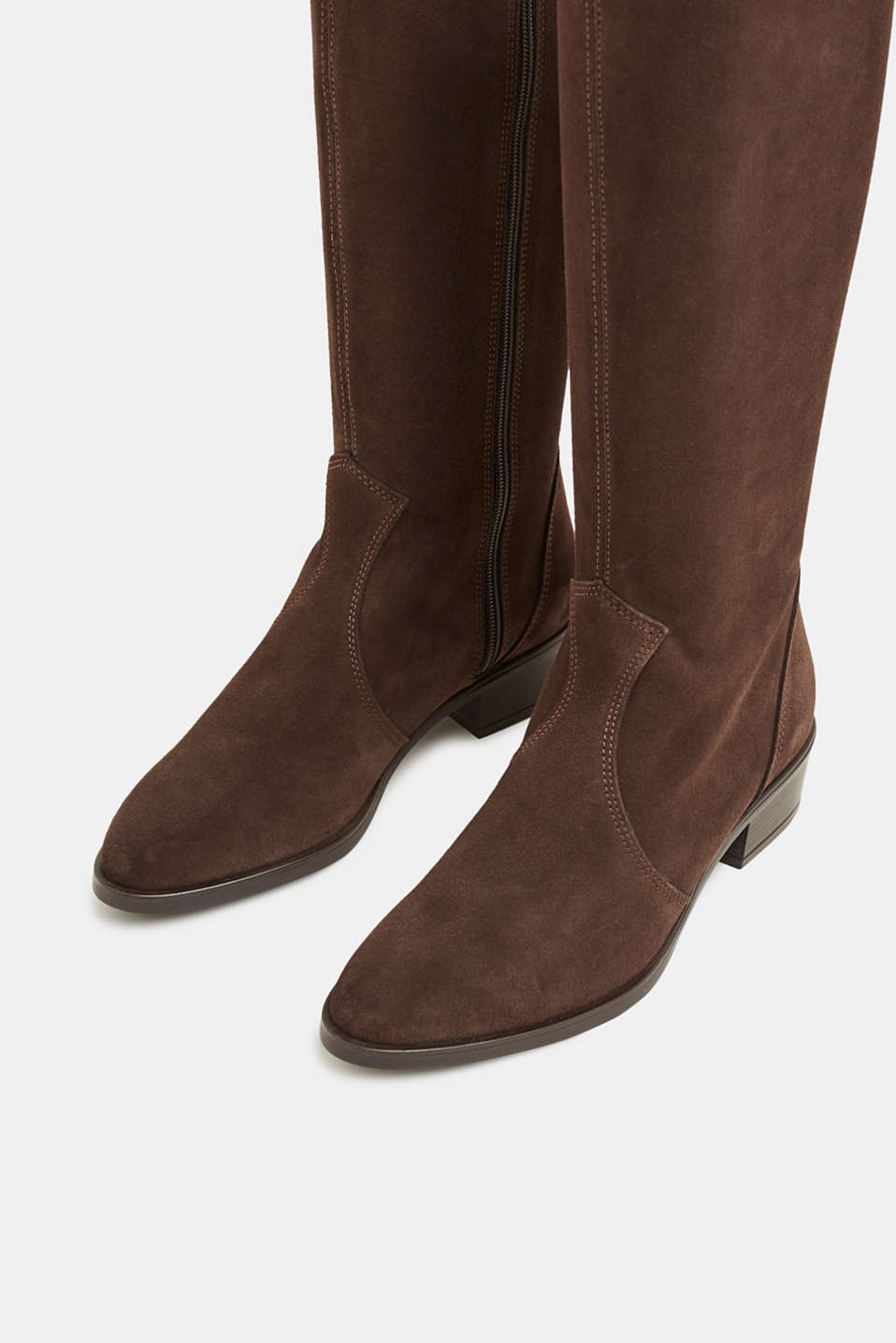 Leather shoes, DARK BROWN, detail image number 3