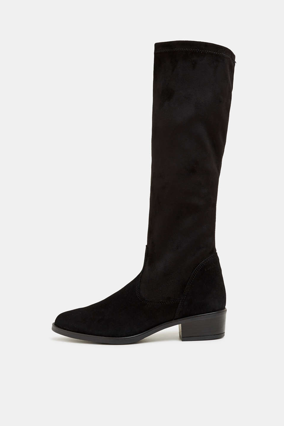 Esprit - Stretch boots with suede