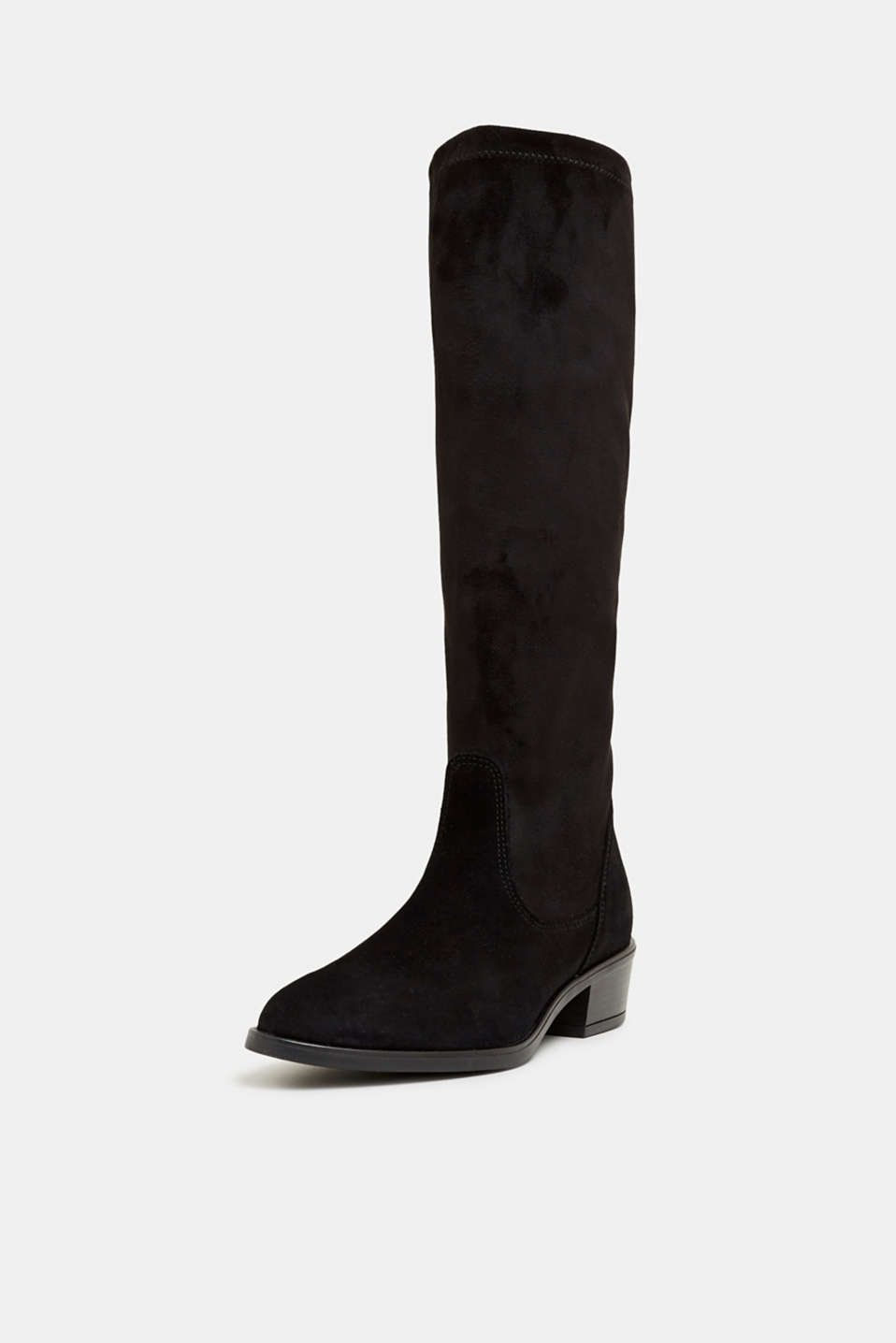 Stretch boots with suede, BLACK, detail image number 2
