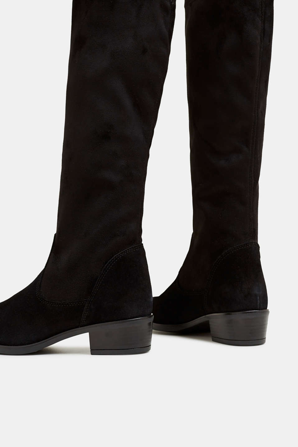 Stretch boots with suede, BLACK, detail image number 5