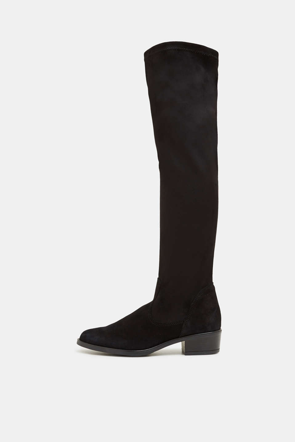 Stretch boots with suede, BLACK, detail image number 0