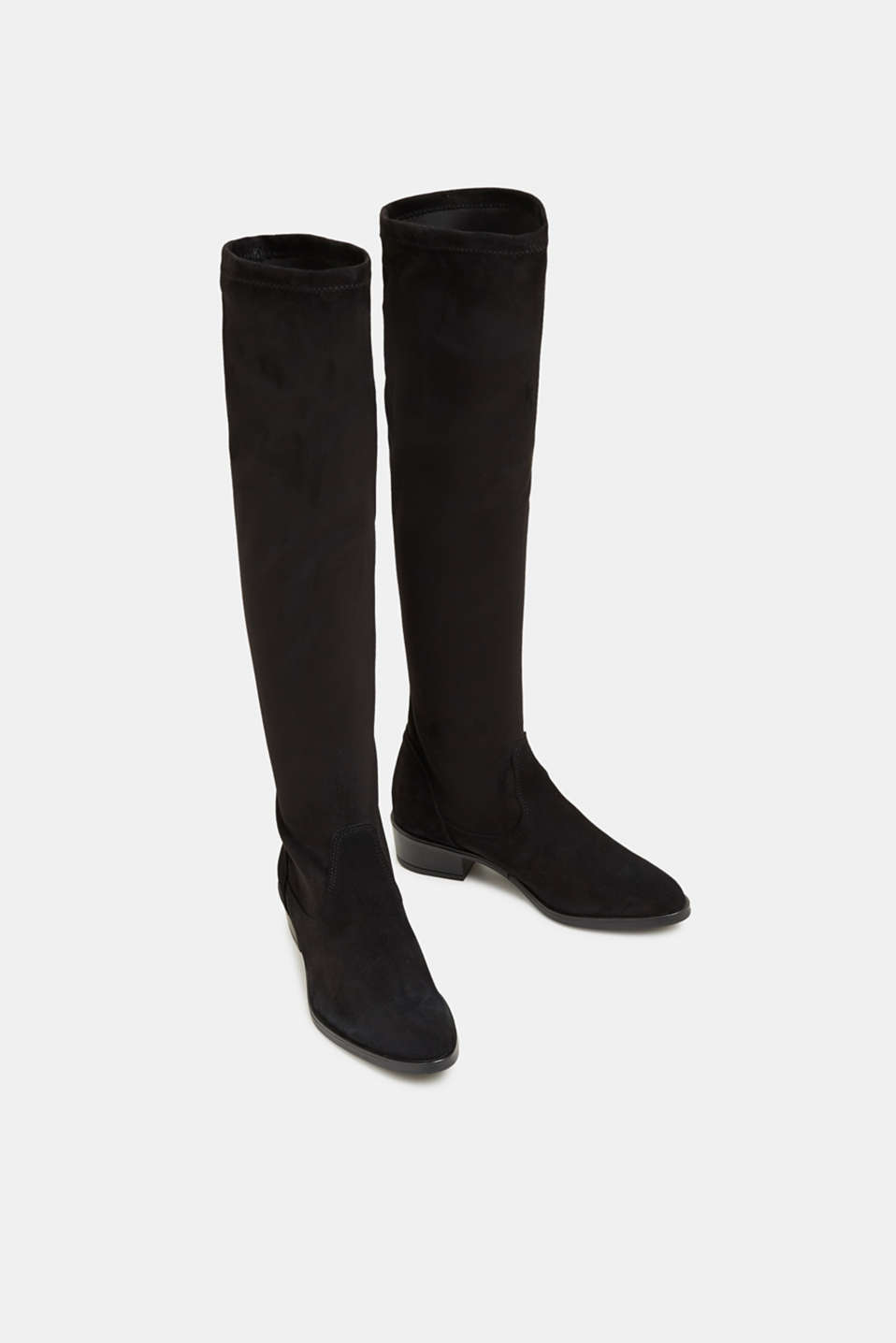 Stretch boots with suede, BLACK, detail image number 1