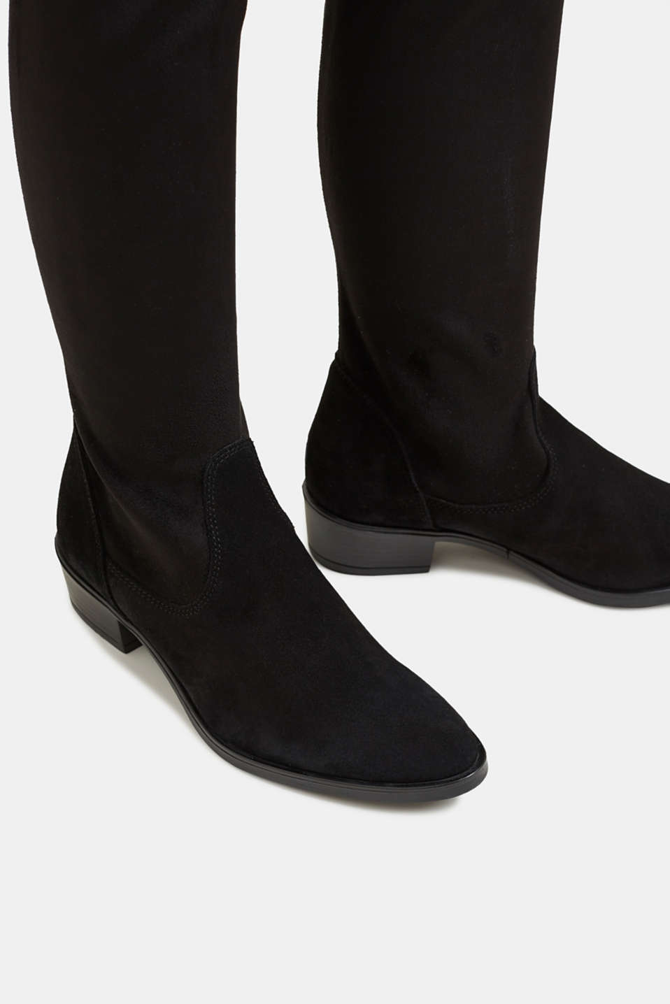 Stretch boots with suede, BLACK, detail image number 4