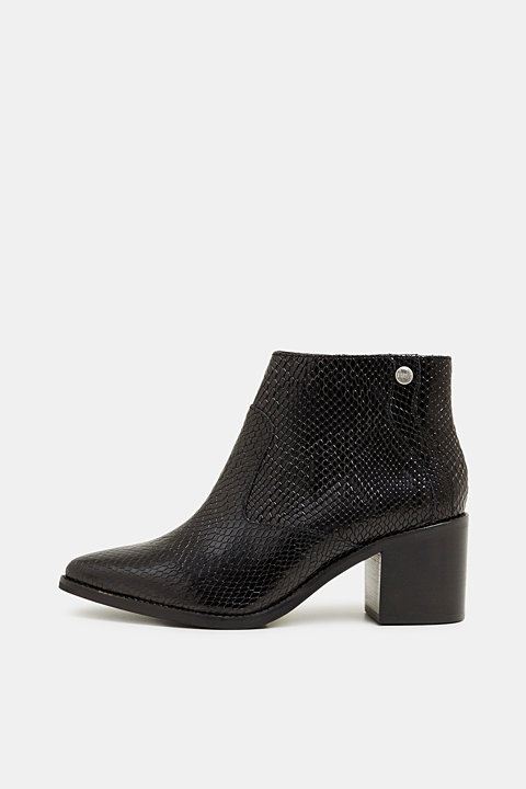 Ankle boots in an exotic look