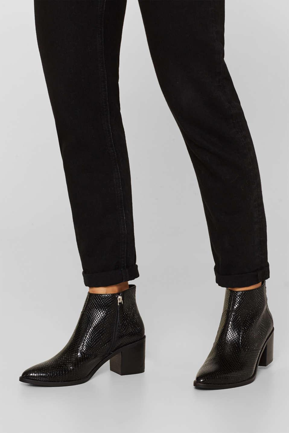 Formal Shoes leather, BLACK, detail image number 3
