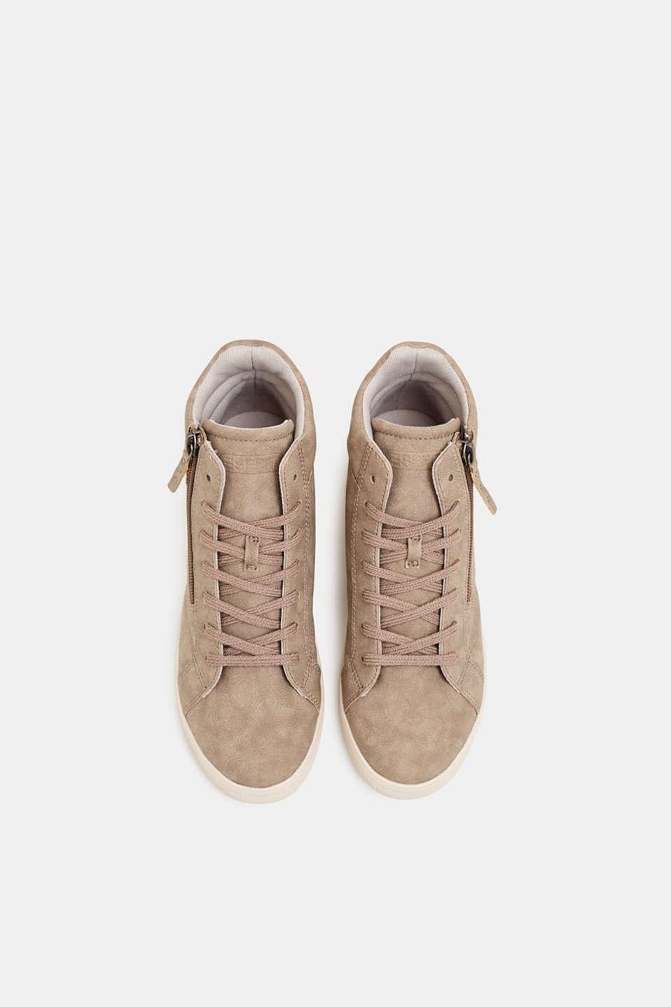 Trainers with a concealed wedge heel, TAUPE, detail image number 1