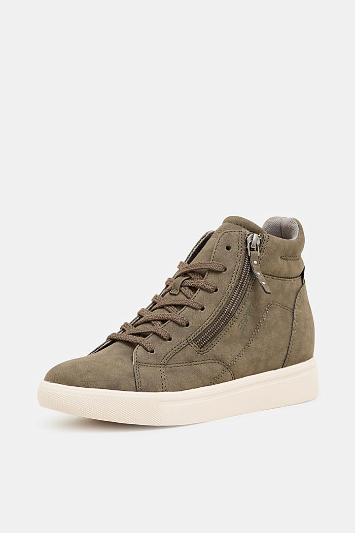 Sneaker mit verstecktem Keilabsatz, KHAKI GREEN, detail image number 2
