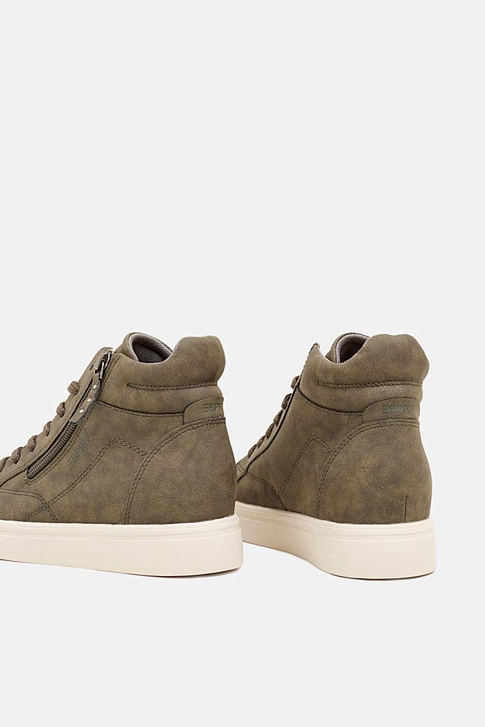 Sneaker mit verstecktem Keilabsatz, KHAKI GREEN, detail image number 4