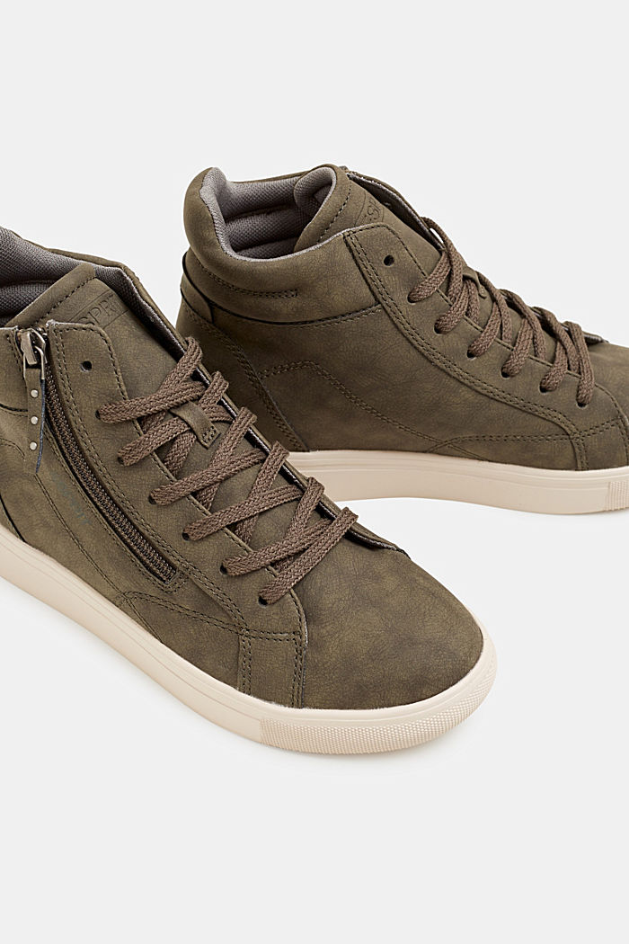 Sneaker mit verstecktem Keilabsatz, KHAKI GREEN, detail image number 3