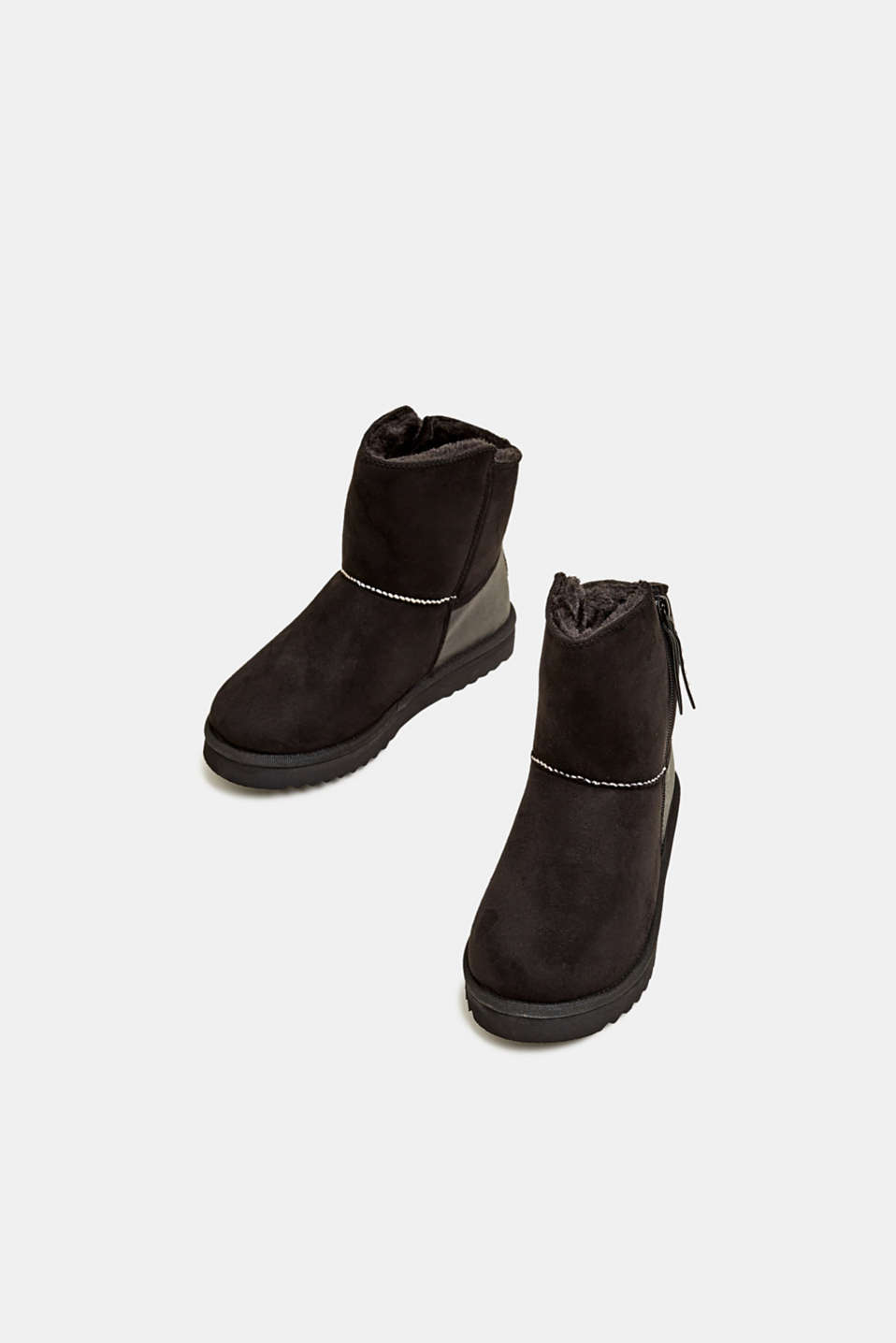 Winter boots with faux fur lining, BLACK, detail image number 1