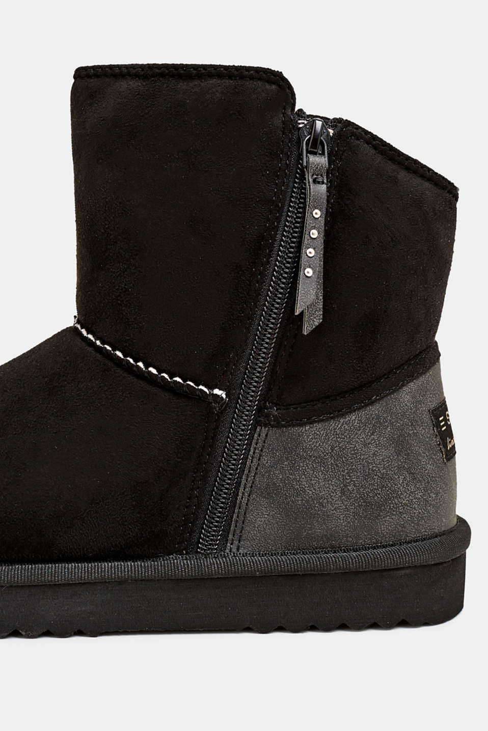 Winter boots with faux fur lining, BLACK, detail image number 4