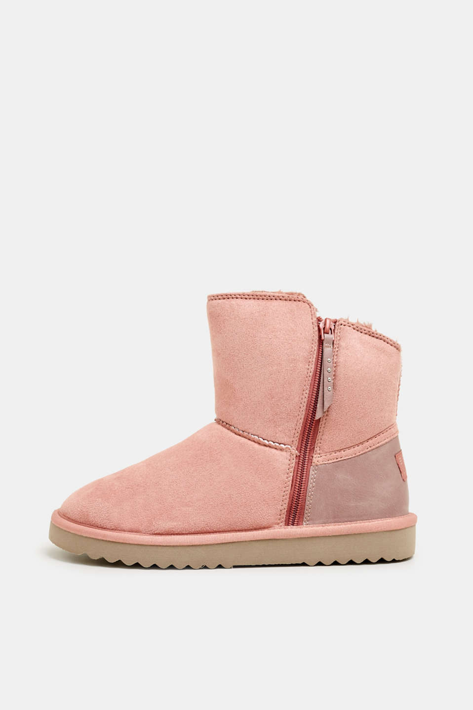 Winter boots with faux fur lining, BLUSH, detail image number 0