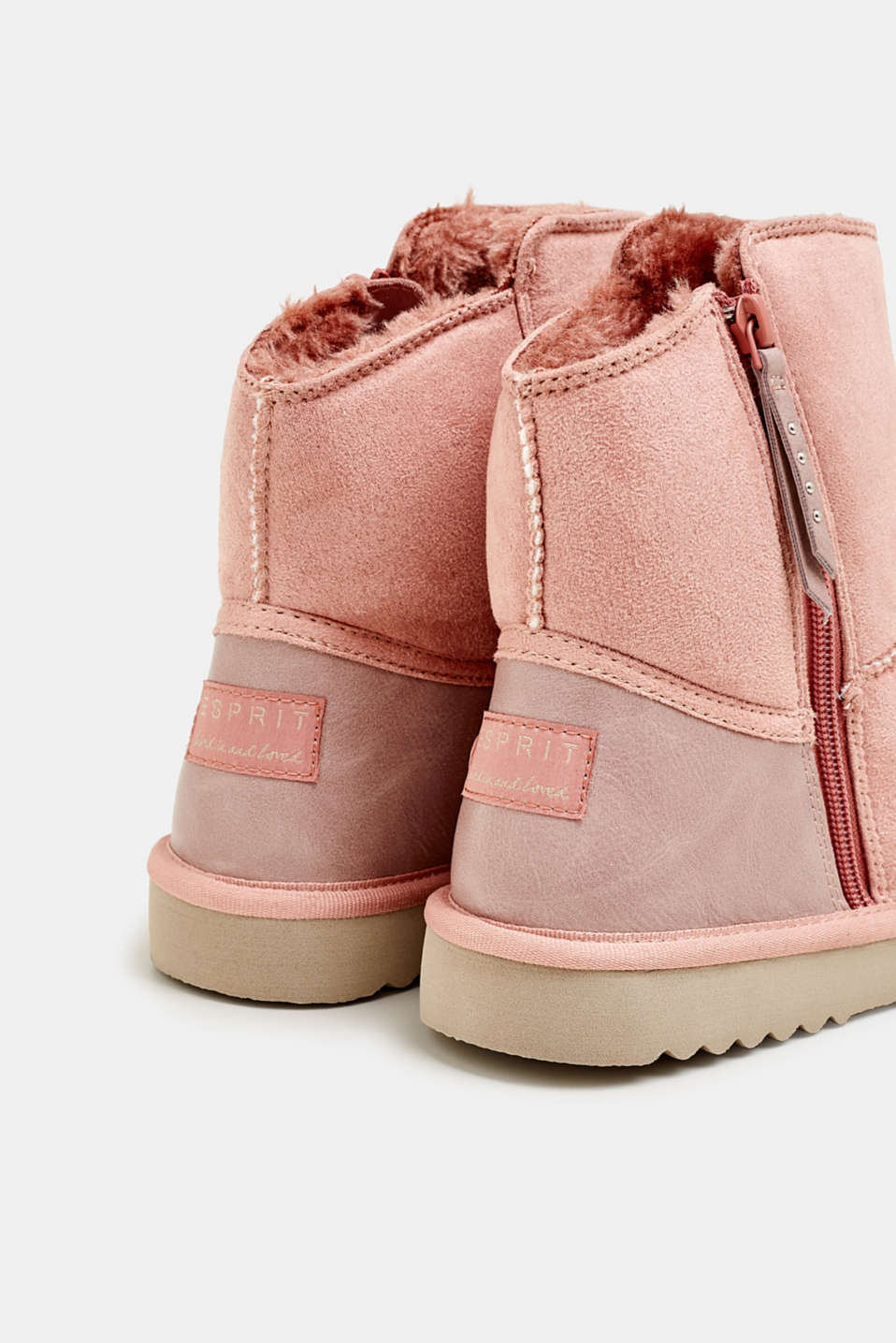 Winter boots with faux fur lining, BLUSH, detail image number 5