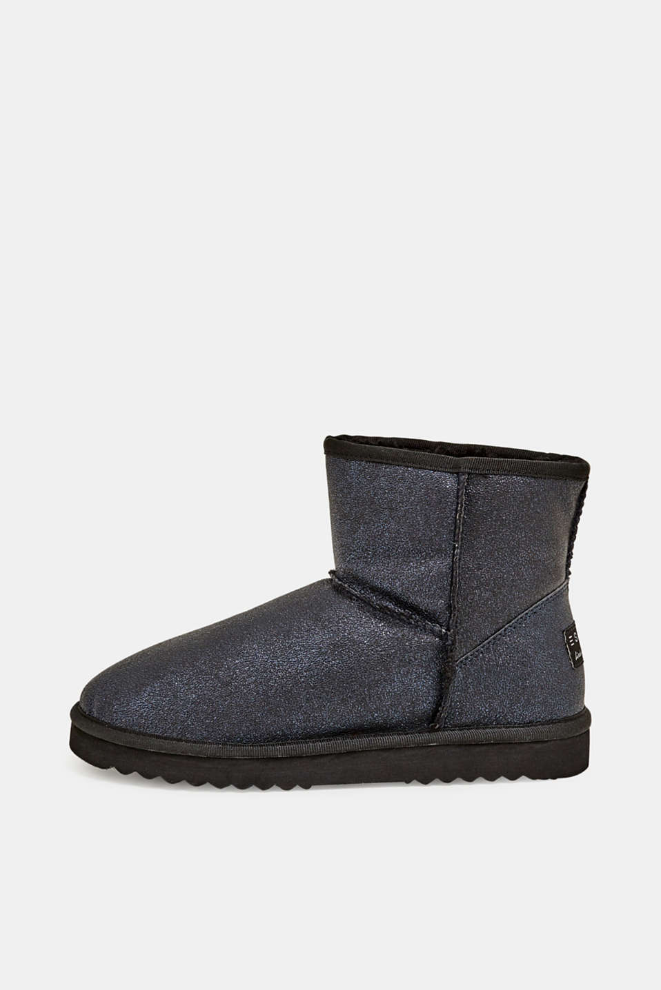 Winter ankle boots with faux fur lining, NAVY, detail image number 0
