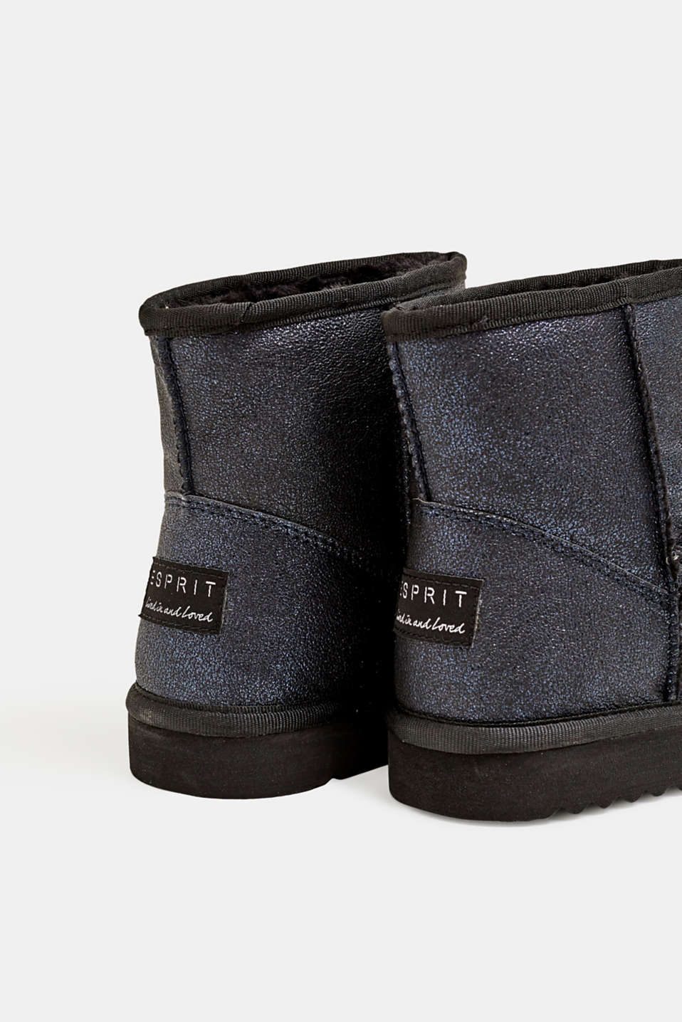 Winter ankle boots with faux fur lining, NAVY, detail image number 4