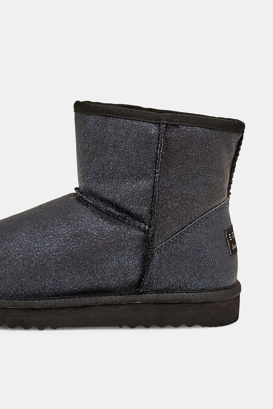 Winter ankle boots with faux fur lining, NAVY, detail image number 3