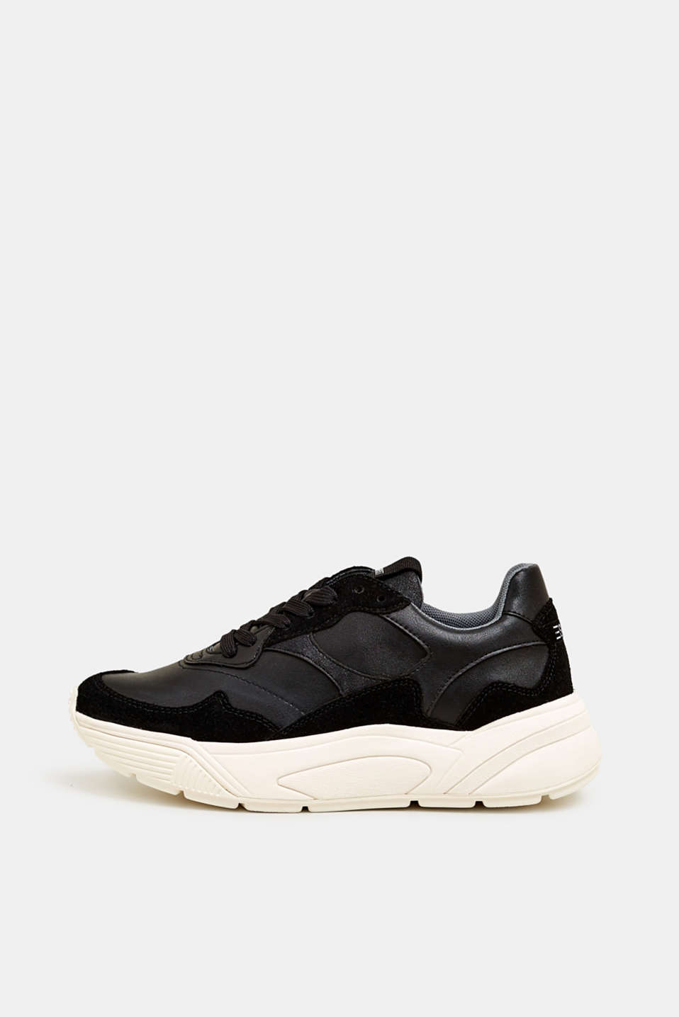 Trend trainers with an oversized sole, BLACK, detail image number 0