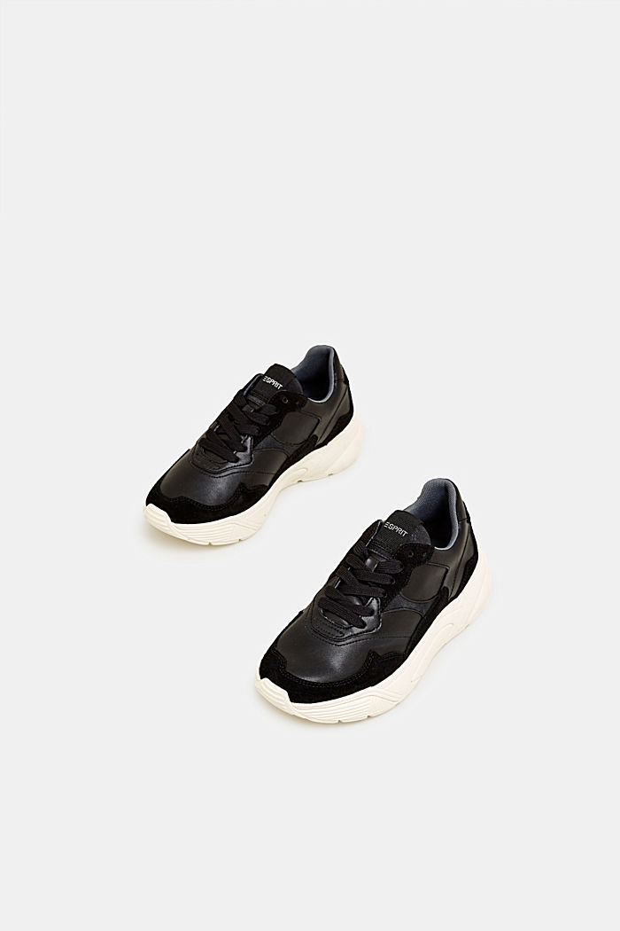 Trend trainers with an oversized sole, BLACK, detail image number 1