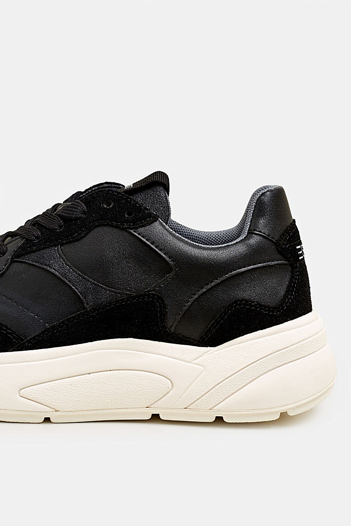 Trend trainers with an oversized sole, BLACK, detail image number 4