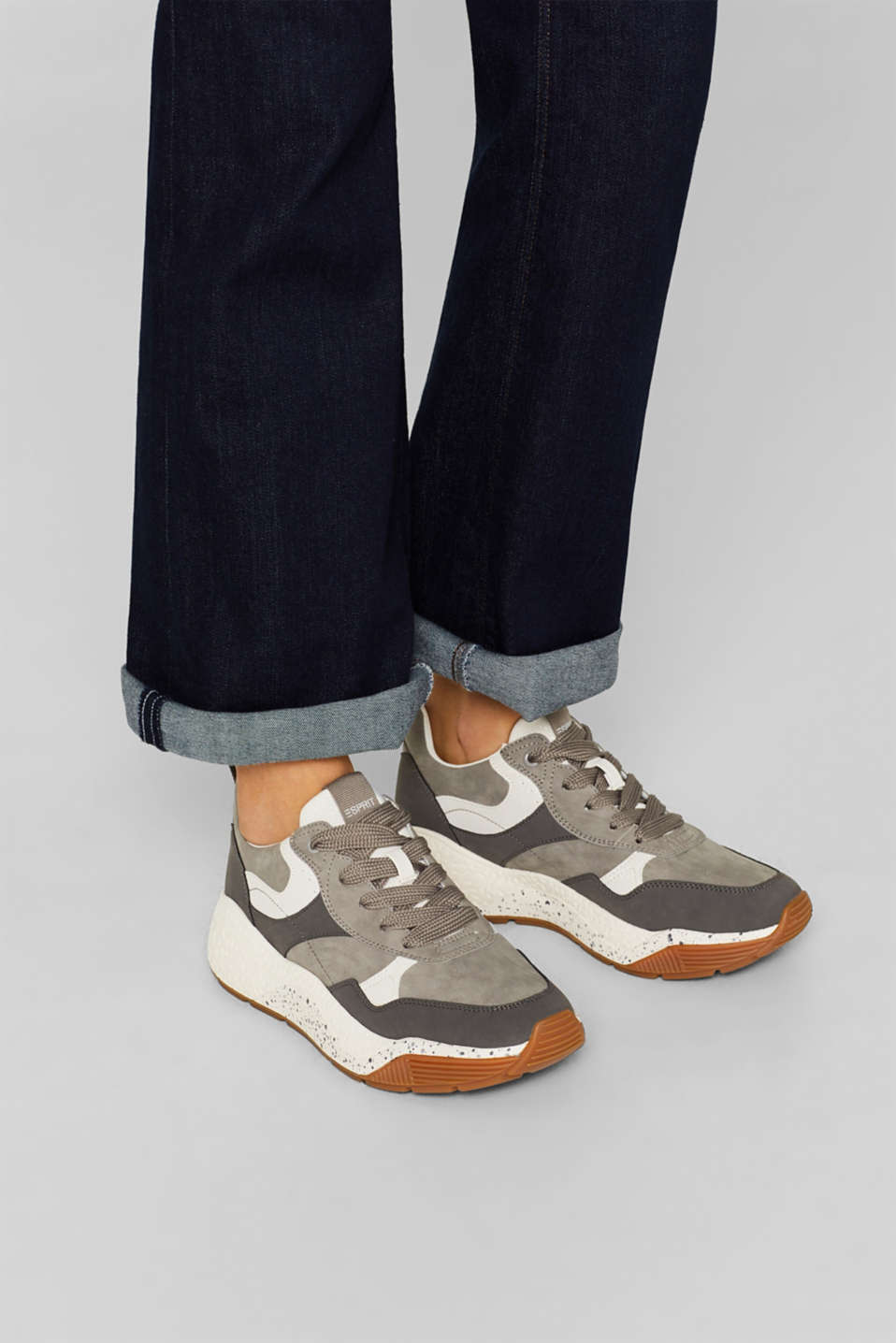 Trend trainers with an oversized sole, GREY, detail image number 3