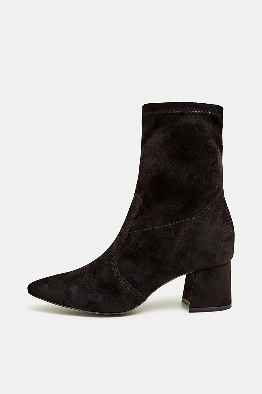 Booties in Velours-Optik