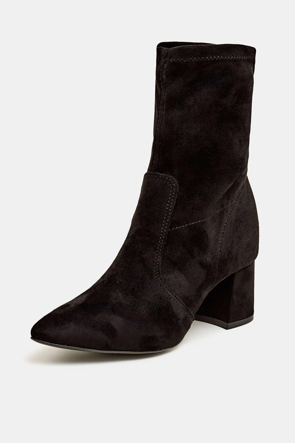 Faux suede ankle boots, BLACK, detail image number 2