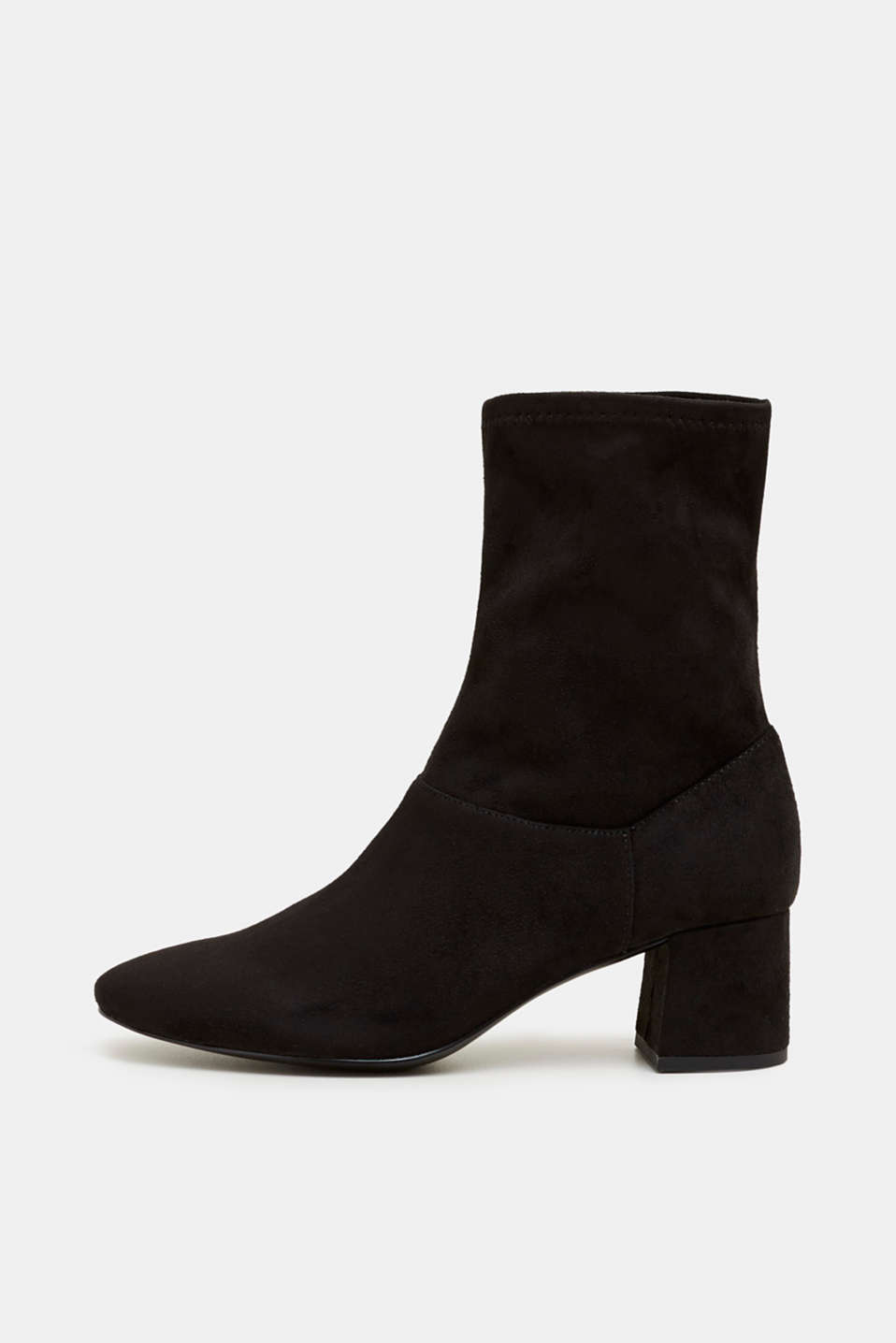 Faux suede ankle boots, BLACK, detail image number 0