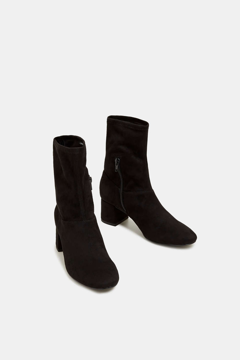 Faux suede ankle boots, BLACK, detail image number 1