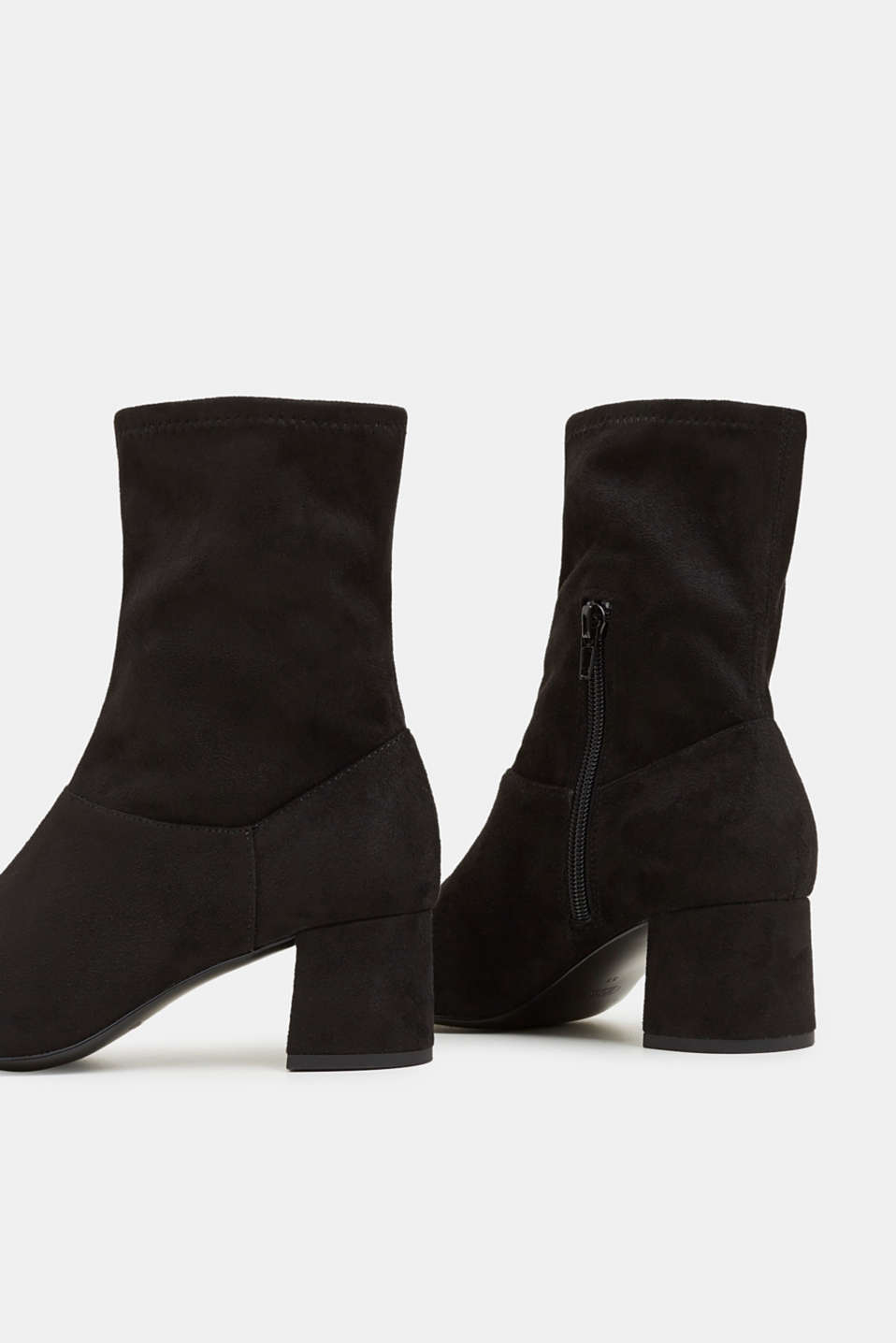 Faux suede ankle boots, BLACK, detail image number 5