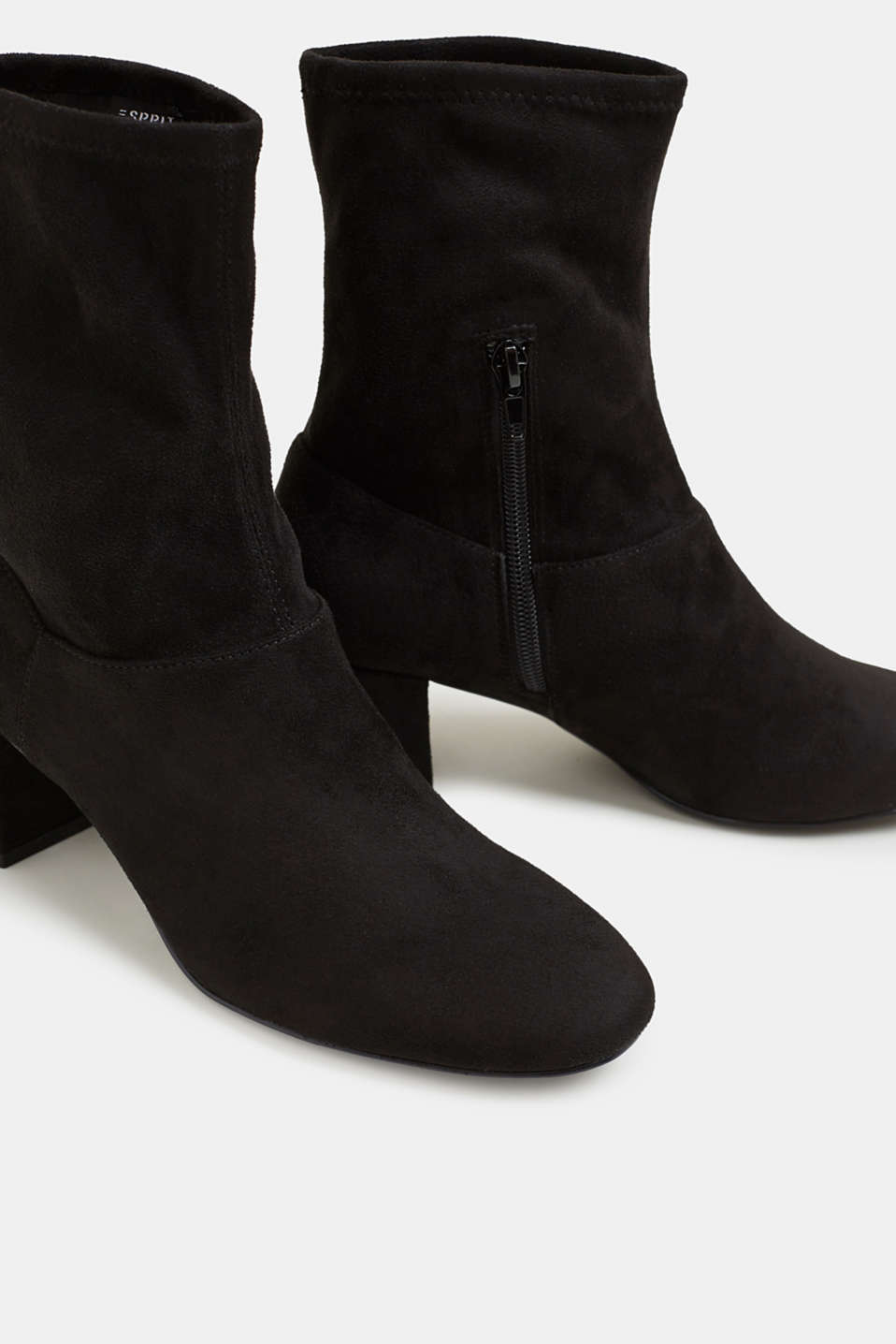 Faux suede ankle boots, BLACK, detail image number 4