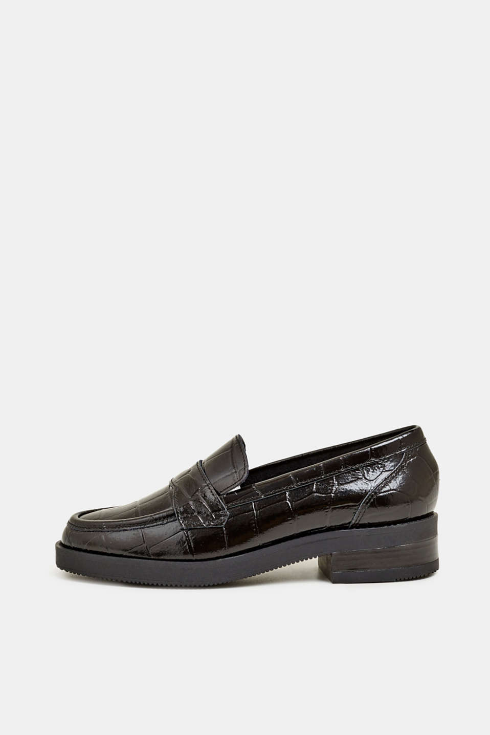 Esprit - Lack-Loafers in Schlangen-Optik