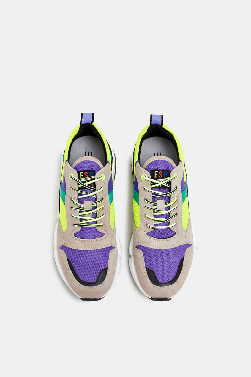 #throwback trainers with an oversized sole, PURPLE, detail image number 1