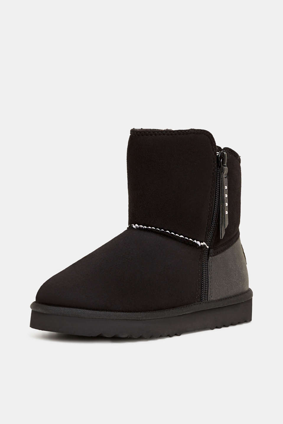 Winter boots with faux fur lining, BLACK, detail image number 2