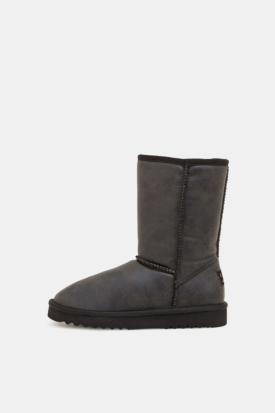 Winter boots with faux fur lining, BLACK, detail image number 0