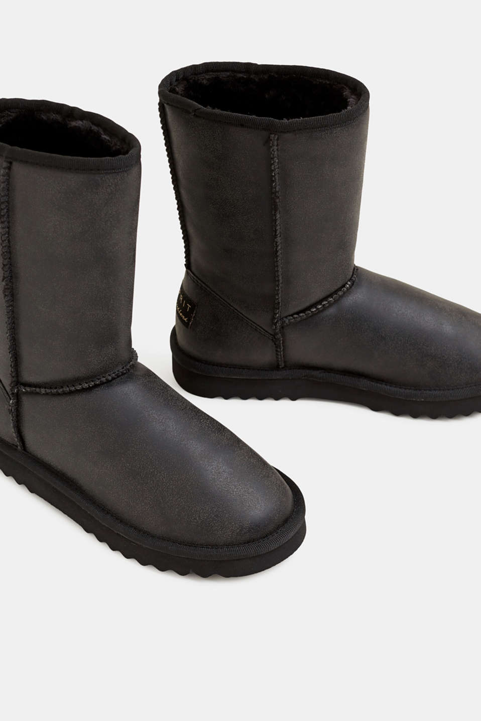 Winter boots with faux fur lining, BLACK, detail image number 3