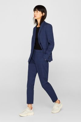 INC CHECK mix + match stretch trousers, INK, detail