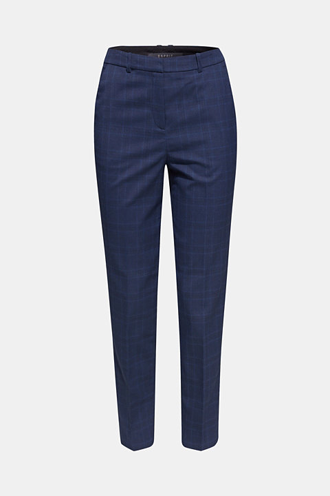 INC CHECK mix + match stretch trousers