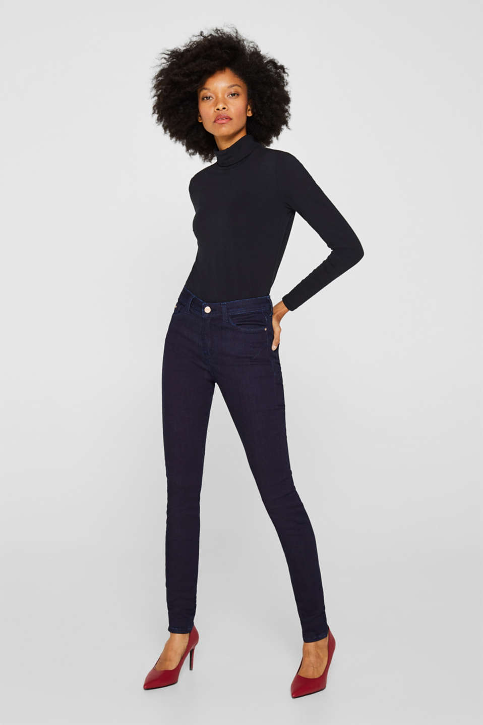 Esprit - Stretch-Jeans aus Dark Denim