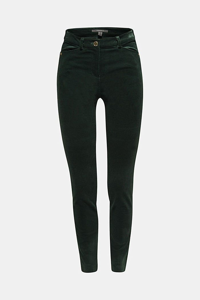 Trousers made of fine stretch corduroy