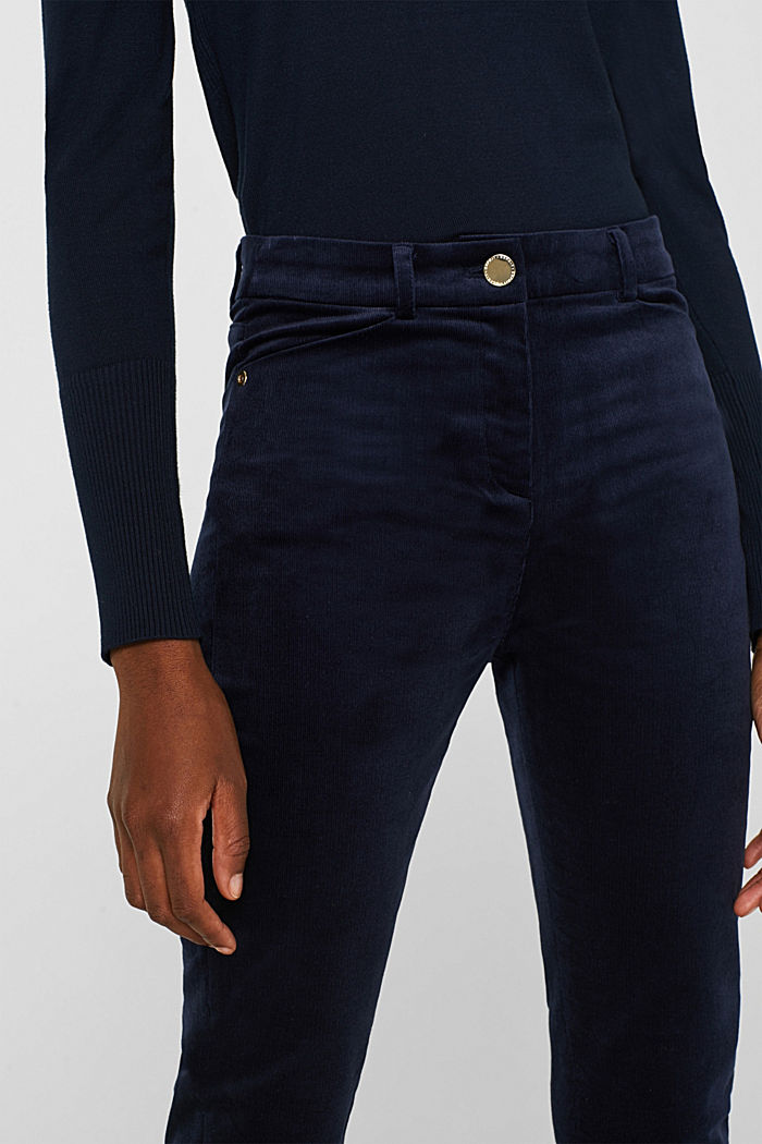 Trousers made of fine stretch corduroy, NAVY, detail image number 2