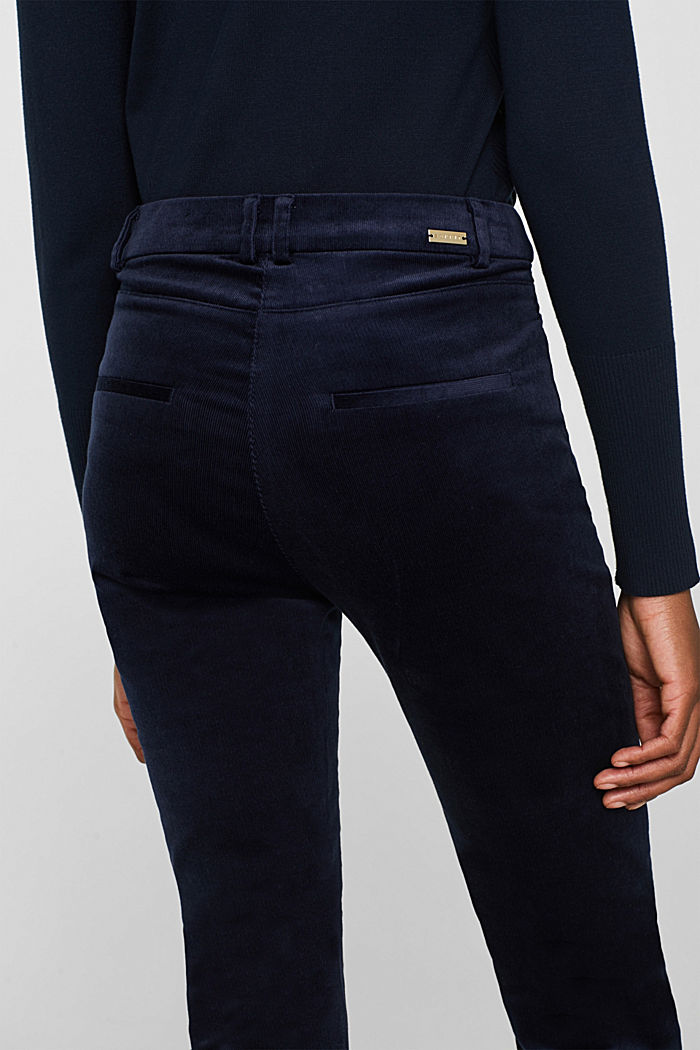 Trousers made of fine stretch corduroy, NAVY, detail image number 6