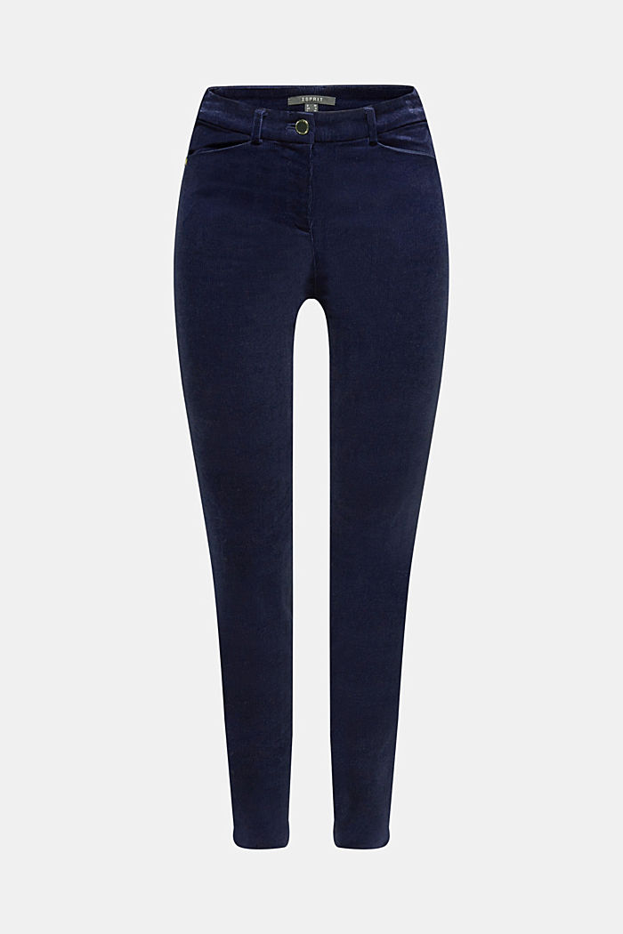 Trousers made of fine stretch corduroy, NAVY, detail image number 8