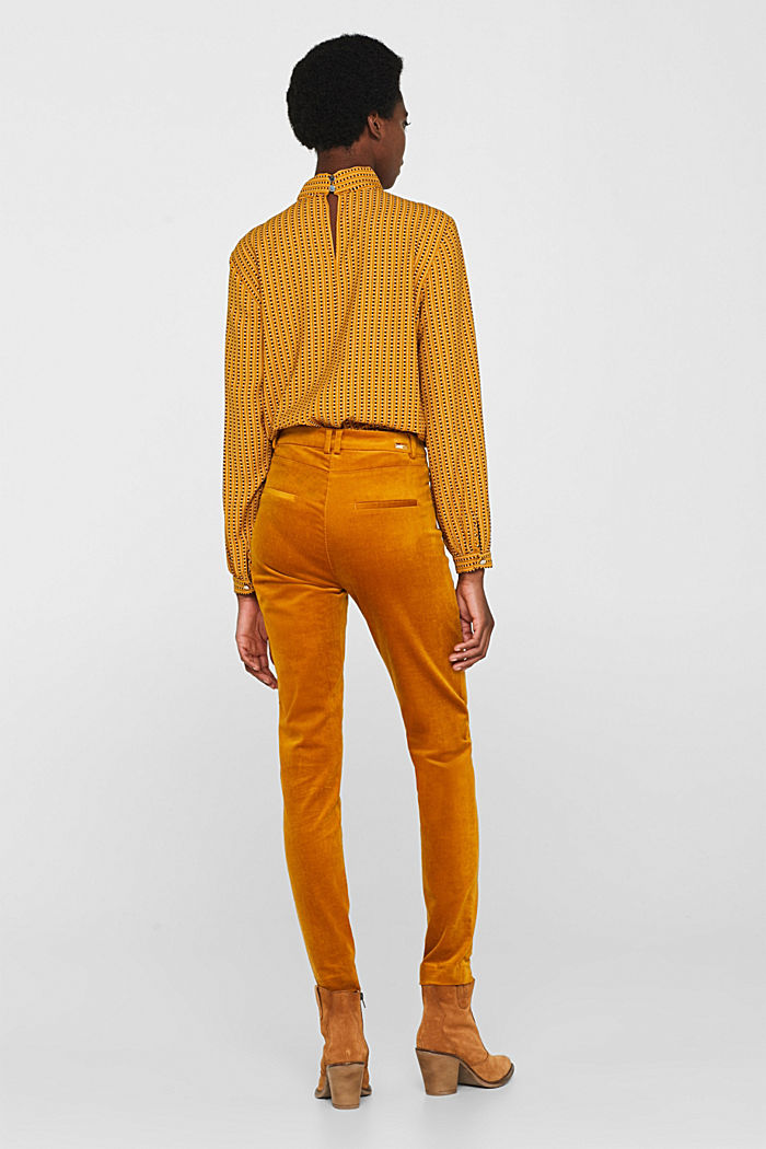 Trousers made of fine stretch corduroy, AMBER YELLOW, detail image number 3